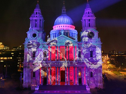 Stunning images light up St Pauls